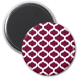 Burgundy Moroccan Pattern Magnet