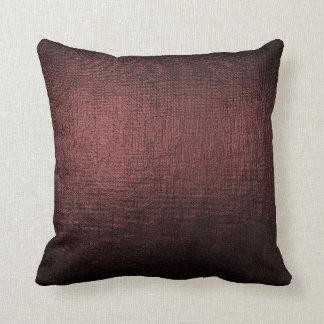 Burgundy Noir Black Glam Brush Metallic Pillow