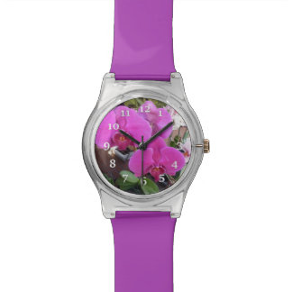 Burgundy Orchids Watch