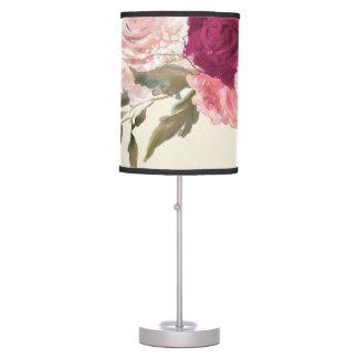 burgundy pink blush floral elegant lamp