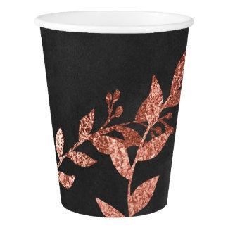 Burgundy Pink Rose Powder Gold Blak Chalkboard Paper Cup
