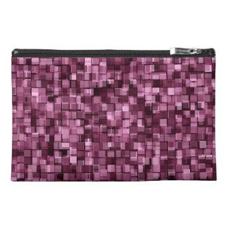 Burgundy pixels travel accessories bag