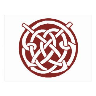 Burgundy Red Celtic Knotwork Postcard