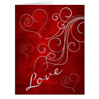 Burgundy Red Forever Love Valentine Card