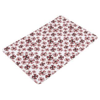 Burgundy Red Lucky Shamrock Clover Floor Mat