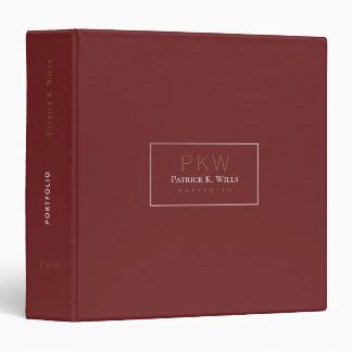 burgundy red professional portfolio 3 ring binder