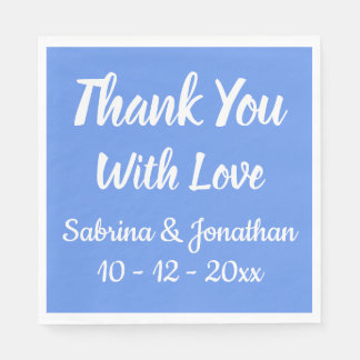 Burgundy Red Thank You Wedding Party Country Paper Napkin