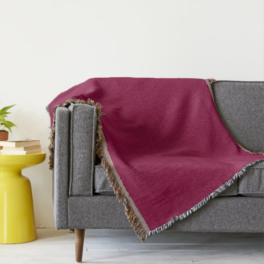 Burgundy Red-Violet Throw Blanket