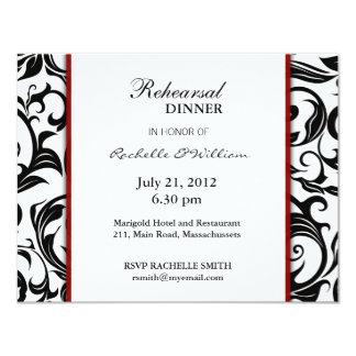 Burgundy Rehearsal Dinner Card