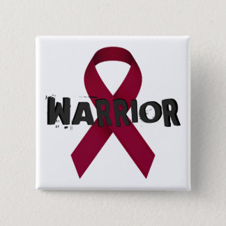 Burgundy Ribbon Warrior Button