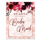 Burgundy & Rose Gold Will You Be My Bridesmaid Card