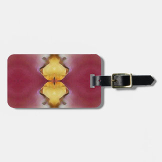 Burgundy  Rose Yellow Modern Chic Pattern Luggage Tag