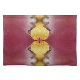 Burgundy  Rose Yellow Modern Chic Pattern Placemat