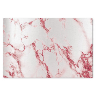 Burgundy Ruben Silver Marble Metallic Abstract Tissue Paper