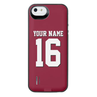 Burgundy Sporty Team Jersey iPhone SE/5/5s Battery Case