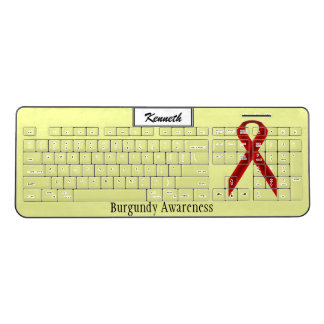 Burgundy Standard Ribbon by Kenneth Yoncich Wireless Keyboard