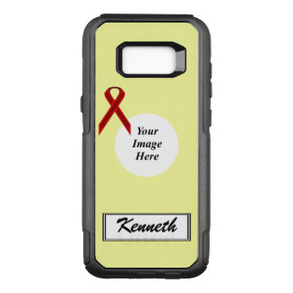 Burgundy Stnd Ribbon Template by Kenneth Yoncich OtterBox Commuter Samsung Galaxy S8+ Case
