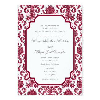 Burgundy Wedding Damask Pattern Template