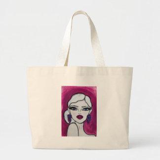 Burgundy - Wendy Buiter - Large Tote Bag