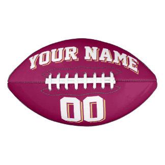 BURGUNDY WHITE AND OLD GOLD Custom Football