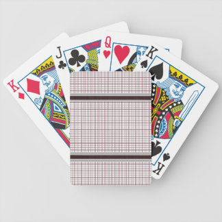 Burgundy Wine and White Checkered Pattern Bicycle Playing Cards