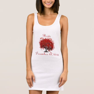Burgundy Wine Heart Leaf Tree Wedding T-Shirts