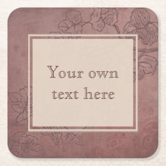 Burgundy Wine Square Paper Coaster