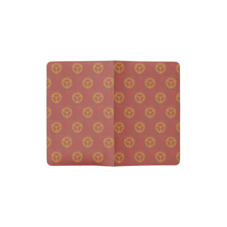 Burgundy with symbol pocket moleskine notebook