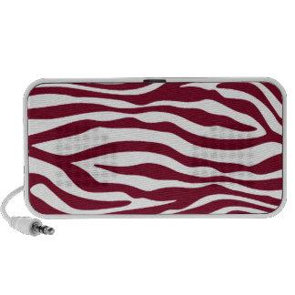 Burgundy Zebra Animal Print iPod Speakers