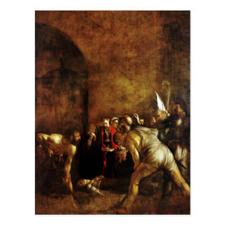Burial of Saint Lucy by Caravaggio (1608) Postcard