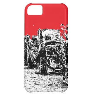 Buried Cadillacs with Red Sky iPhone 5C Cover