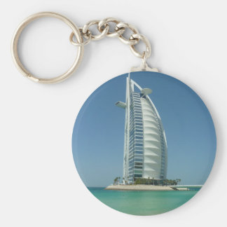 Burj Al Arab Basic Round Button Keychain