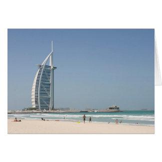 Burj Al Arab From Sunset Beach, Dubai Card