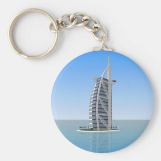 Burj Al Arab Hotel Dubai: 3D Model: Basic Round Button Keychain