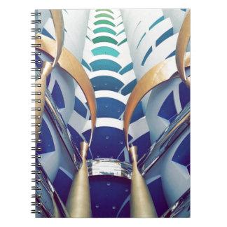 Burj Al Arab Inside Spiral Notebook