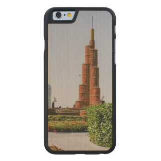 Burj Khalifa,Dubai Miracle Garden Carved® Maple iPhone 6 Case