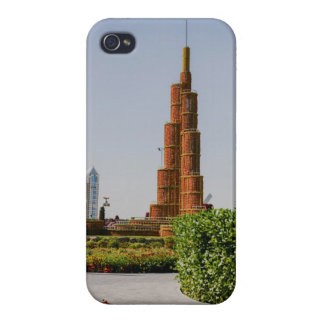 Burj Khalifa,Dubai Miracle Garden iPhone 4 Case