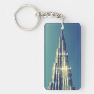 Burj Khalifa, Dubai Single-Sided Rectangular Acrylic Keychain