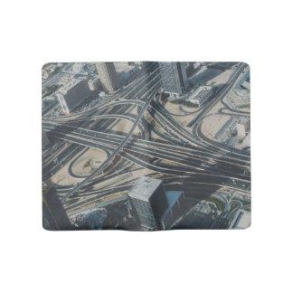 Burj Khalifa road view,Dubai Large Moleskine Notebook