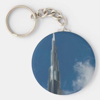 Burj Khalifa skyscraper Basic Round Button Keychain