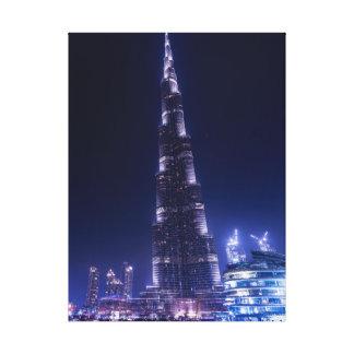 Burj khalifa skyscraper , dubai canvas print