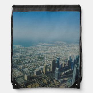 Burj Khalifa view, Dubai Drawstring Bag