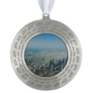 Burj Khalifa view, Dubai Pewter Ornament