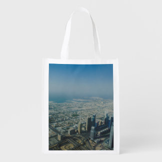 Burj Khalifa view, Dubai Reusable Grocery Bag