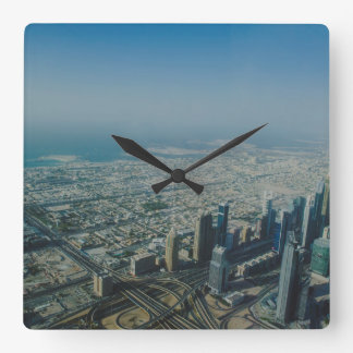 Burj Khalifa view, Dubai Square Wall Clock