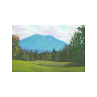Burke Mountain Stretched Canvas Print