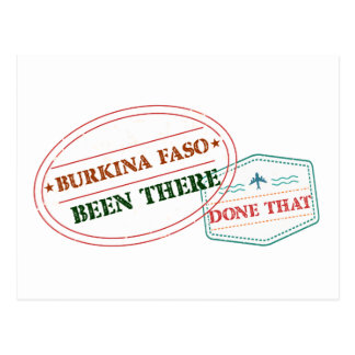 Burkina Faso Been There Done That Postcard