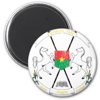 Burkina Faso Coat Of Arms 2 Inch Round Magnet