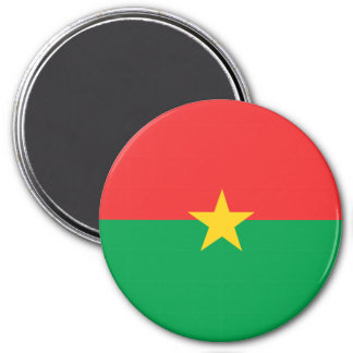 Burkina Faso Flag 3 Inch Round Magnet