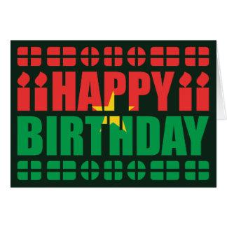 Burkina Faso Flag Birthday Card